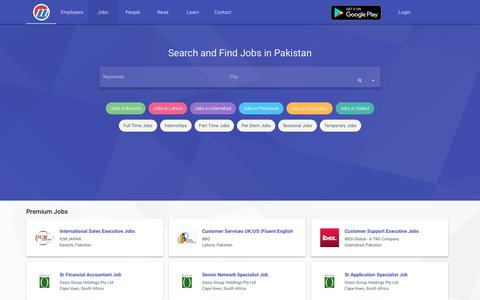 Screenshot of Jobs Page mustakbil.com - Search and Find Jobs in Pakistan - Post Free Resume - captured Sept. 21, 2018