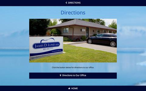 Screenshot of Maps & Directions Page jameslunddds.com - Directions To Our Office | James Lund DDS | Dental Office South Jordan, UT - captured Sept. 20, 2018