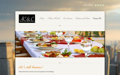 Screenshot of Contact Page weebly.com - Contact Us - Alberto's Catering & Concepts (AC&C) Official Website - captured Sept. 17, 2014