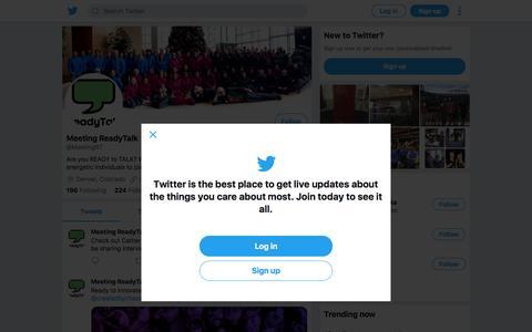 Tweets by Meeting ReadyTalk (@MeetingRT) – Twitter