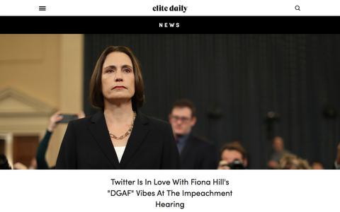 Screenshot of Press Page elitedaily.com - News - captured Nov. 29, 2019