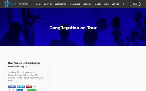 Screenshot of Press Page congregation.ie - CongRegation on Tour – Congregation - captured Nov. 5, 2018