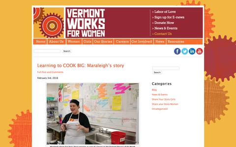 Screenshot of Blog vtworksforwomen.org - Vermont Works for Women - Helping women and girls recognize their potential and explore, pursue and excel in work that leads to economic independence. - captured Feb. 15, 2016