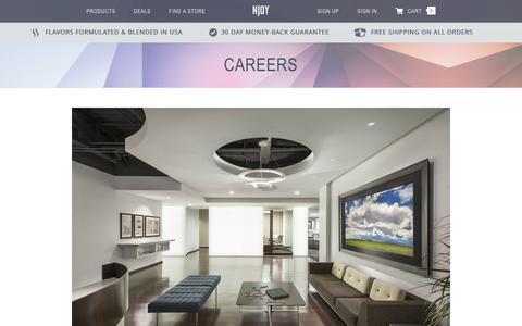 Screenshot of Jobs Page njoy.com - Careers at NJOY - captured Jan. 20, 2016