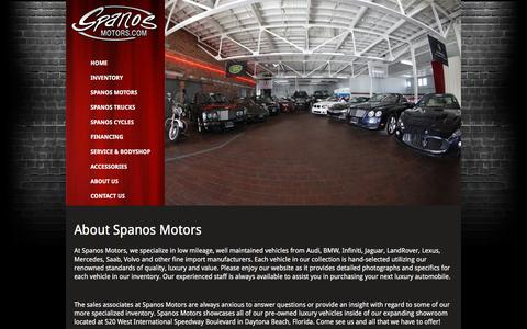 Screenshot of About Page spanosmotors.com - About Us - Spanos Motors - captured Jan. 11, 2016