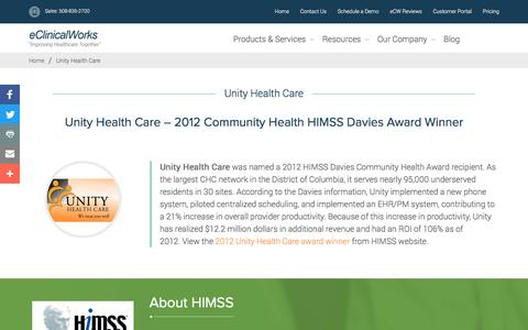 Unity Health Care - eClinicalWorks