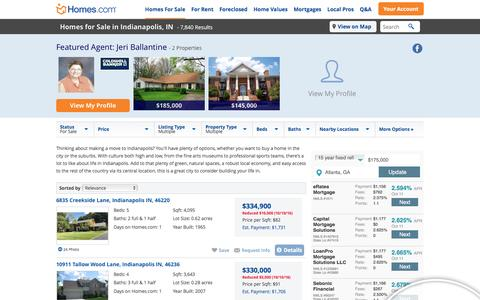 Indianapolis, IN Real Estate & Indianapolis Homes for Sale at Homes.com | 7967 Indianapolis Homes for Sale