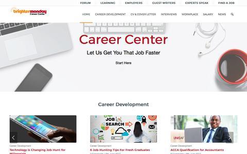Screenshot of Blog brightermonday.co.ke - CV, Interview & Career Tips | Brighter Monday - captured June 21, 2017