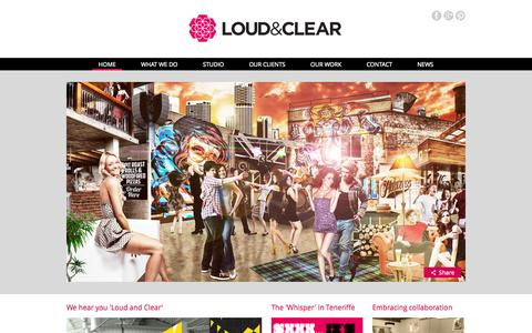 Screenshot of Home Page loudandcleardesign.com.au - Loud & Clear Design - Home Page Feature Samples QCCAT, Product Packaging, Happy Valley, Commonwealth Hotel - captured Oct. 3, 2014