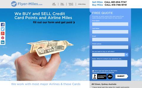Screenshot of Home Page flyer-miles.com - Home - Flyer-Miles.com - captured Aug. 3, 2015