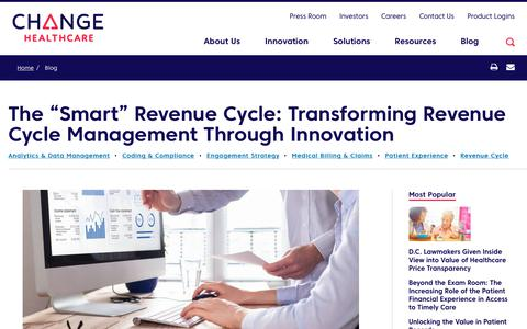 Screenshot of Team Page changehealthcare.com - Healthcare Revenue Cycle Management Innovation | Change Healthcare - captured Feb. 20, 2020