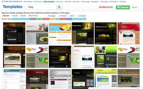 Screenshot of Blog all-free-download.com - Blog free website templates for free download about (345) free website templates. - captured Sept. 21, 2018