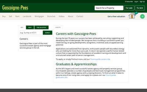 Screenshot of Jobs Page gpees.co.uk - Careers With Gascoigne-Pees Estate Agents - captured Sept. 27, 2018