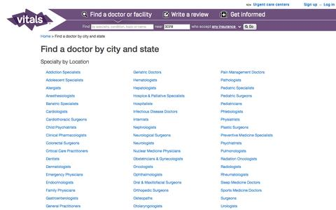 Find a Doctor by City and State - Vitals.com