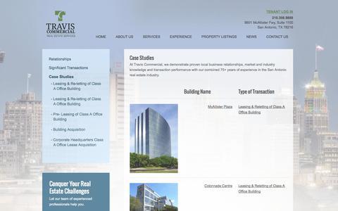 Screenshot of Case Studies Page traviscommercial.com - Case Studies | Travis Commercial - captured Oct. 7, 2014