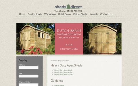 Screenshot of Site Map Page shedsdirect.net - Dutch Barn Garden Sheds - captured Oct. 20, 2017