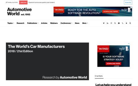 Automotive World   News, Analysis, Data and Research