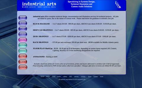Screenshot of Pricing Page industrialarts101.com - industrial arts copyright - Specializing in the Design, Documentation and Illustration of Technical Systems, a dtools alternative - captured Oct. 6, 2014
