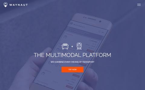 Screenshot of Home Page waynaut.com - Waynaut.com | the multimodal platform - captured March 1, 2016