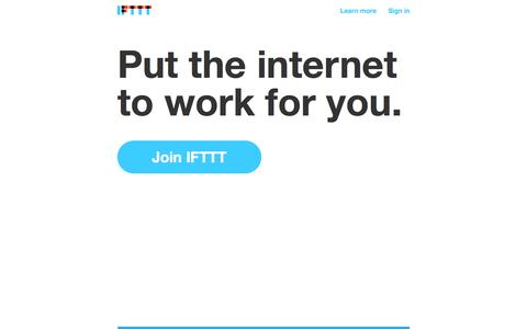Put the internet to work for you. - IFTTT