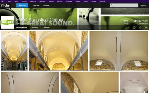 Screenshot of Flickr Page flickr.com - Flickr: Fellert Acoustical Ceilings' Photostream - captured Oct. 25, 2014