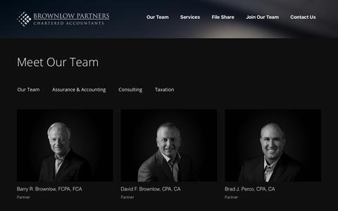 Screenshot of Team Page brownlowcas.com - Meet Our Team - Brownlow Partners - captured Oct. 11, 2017
