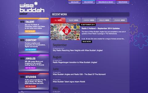 Screenshot of Press Page wisebuddah.com - Wise Buddah - captured Oct. 7, 2014