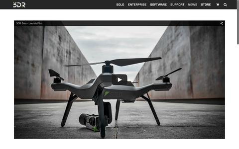 Screenshot of Press Page 3drobotics.com - Drone Blog | 3DR | Drone & UAV Technology - captured Nov. 9, 2015