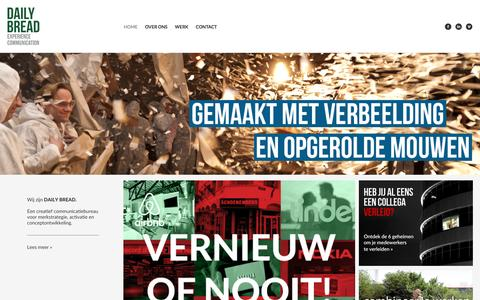 Screenshot of Home Page daily-bread.nl - DAILY BREAD experience communication - captured Jan. 7, 2016