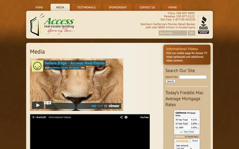 Screenshot of Press Page accessloans.net - Media | Access Real Estate Lending - captured Oct. 4, 2014