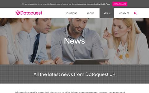 Screenshot of Press Page dataquestuk.com - News - Dataquest UK's latest company and industry news - captured Oct. 7, 2018