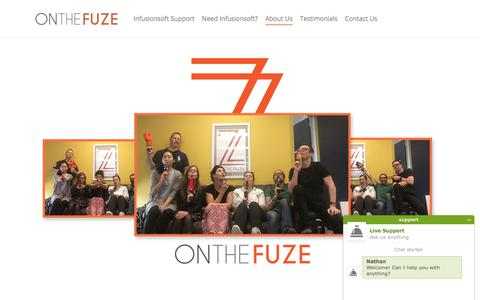 Screenshot of About Page onthefuze.com.au - On The Fuze - An Award Winning Team of Infusionsoft Consultants - captured Jan. 15, 2018