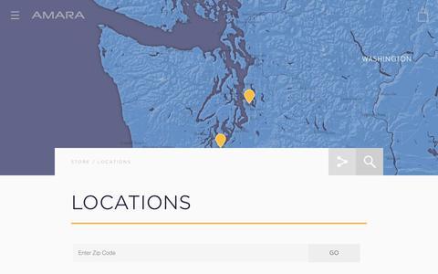 Screenshot of Locations Page drinkamara.com - Locations – Amara - captured Feb. 6, 2016