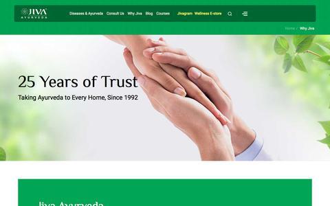 Screenshot of FAQ Page jiva.com - Jiva Ayurveda  - A leader in Ayurvedic Treatment World Wide, Highest Quality - captured Feb. 5, 2020