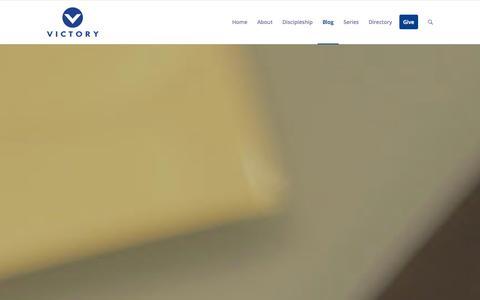Screenshot of Blog victory.org.ph - Victory - Honor God. Make Disciples.     Blog - captured Sept. 22, 2014