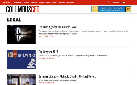 Screenshot of Terms Page columbusceo.com - Legal - Columbus CEO - Columbus, OH - Page 2 - captured July 20, 2018
