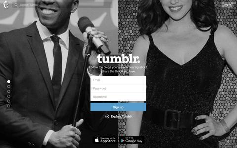 Screenshot of Signup Page tumblr.com - Sign up | Tumblr - captured Jan. 22, 2016