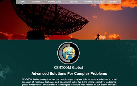 Screenshot of Home Page centcomglobal.com - CENTCOM Global - captured Oct. 28, 2016
