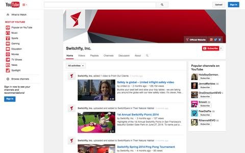 Screenshot of YouTube Page youtube.com - Switchfly, Inc.  - YouTube - captured Oct. 22, 2014