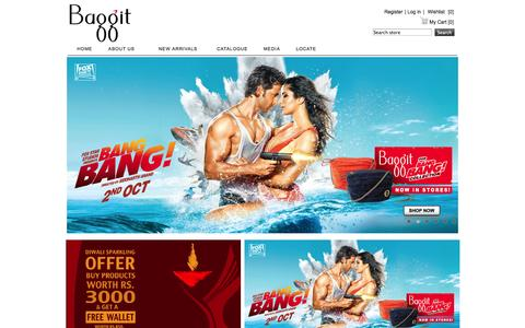 Screenshot of baggit.com - Baggit.com- Handbags India | Buy Bag Online | Ladies Handbags | Women Handbags Online India | Clutches | Wallets | Laptop Bags - captured Oct. 11, 2014