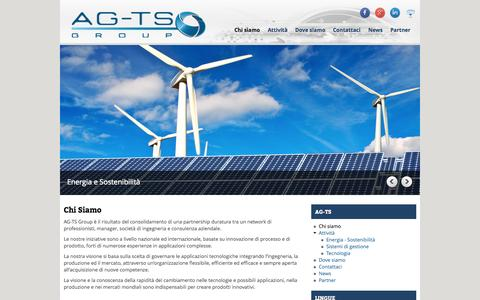 Screenshot of Home Page ag-ts.com - Chi Siamo | AG-TS - captured Oct. 4, 2014