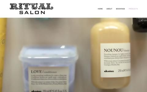 Screenshot of Products Page ritualsalonaustin.com - Products — Ritual Salon - captured Oct. 27, 2017