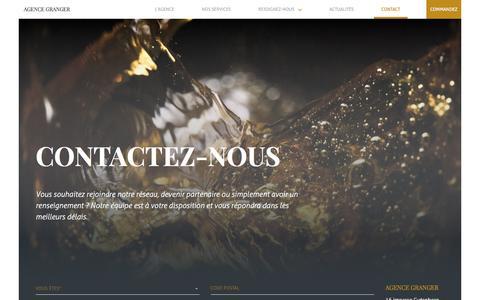 Screenshot of Contact Page agence-gilles-granger.fr - Contacter l'Agence Granger - Grossiste en vins pour les professionnels - captured July 29, 2018