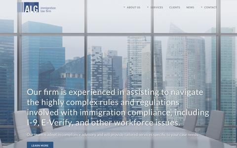 Screenshot of Home Page algvisas.com - Azarmehr Law Group | Immigration Services in Austin - captured Nov. 21, 2016