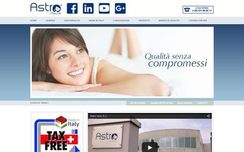 Screenshot of Home Page astroitalia.it - Astro Italia - Produzione e vendita di sistemi letto su misura - captured Feb. 5, 2016