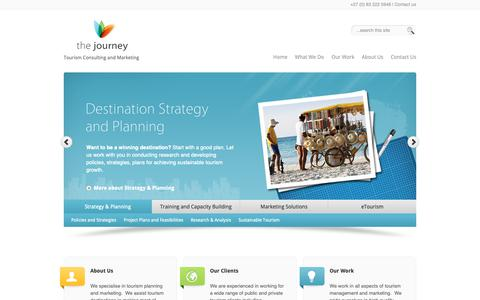 Screenshot of Home Page thejourneytourism.com - Tourism Consulting and Management | The Journey - captured Oct. 20, 2018