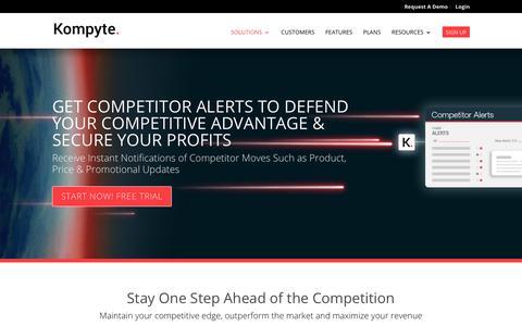Competitor Tracking & Alerts Software – Kompyte | Kompyte