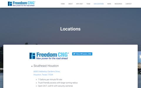 Screenshot of Locations Page freedom-cng.com - Locations – Freedom CNG - captured Aug. 27, 2018