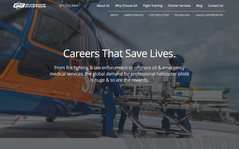 Screenshot of Jobs Page guidance.aero - Career Services - Guidance Aviation - captured Feb. 2, 2016
