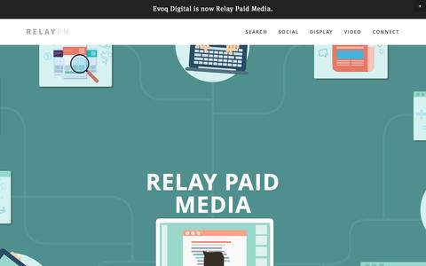 Screenshot of Home Page relaypm.com - Relay Paid Media - captured July 17, 2016